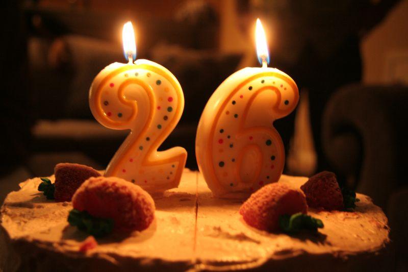 Поздравление с днем 26 лет